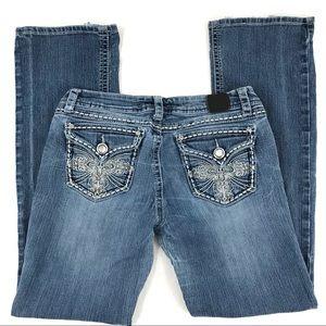 VGUC Grace in LA Midrise Straight Jeans Size 29